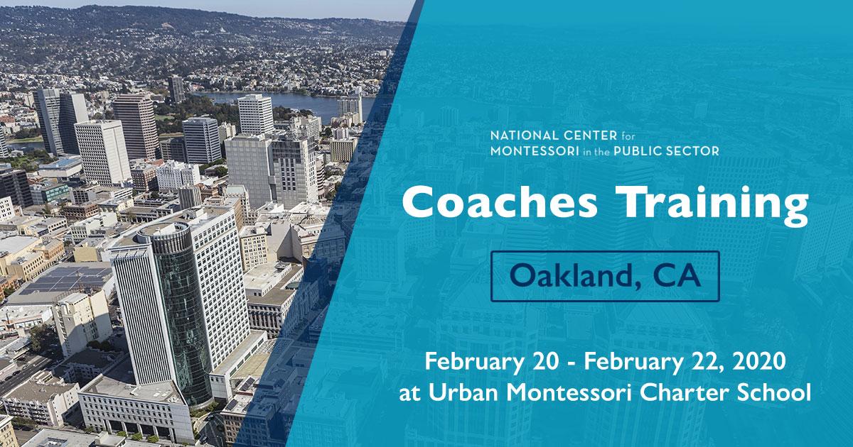 Montessori Coaches Training in Oakland, CA