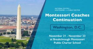 Montessori Coaches Continuation in Washington, DC