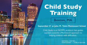 Montessori Child Study Training (Boston, MA)